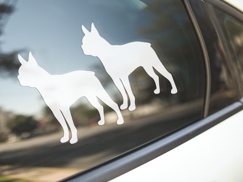 Boston Terrier Dog Silhouette Stickers