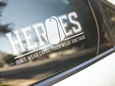 Heroes Don't Wear Capes Sticker