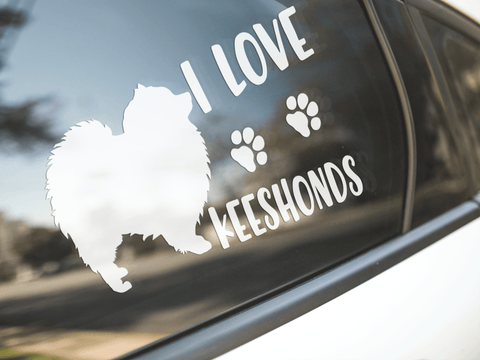 I Love Keeshonds Sticker