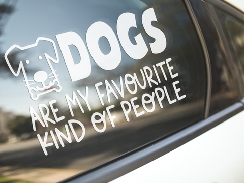 Dogs Are My Favourite People Sticker