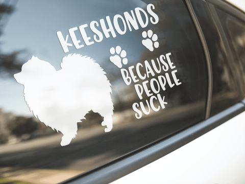 Keeshonds Because People Suck Sticker