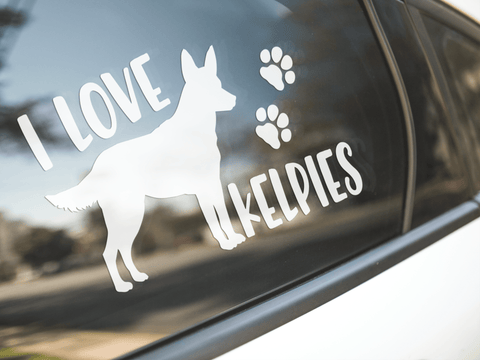 I Love Kelpies Sticker
