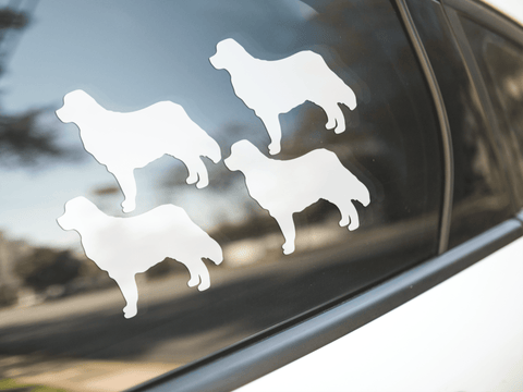 Bernese Mountain Dog Silhouette Sticker