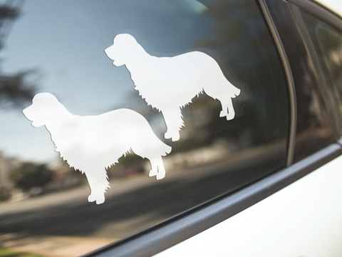 Golden Retriever Silhouette Stickers