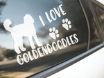 I Love Goldendoodles Sticker
