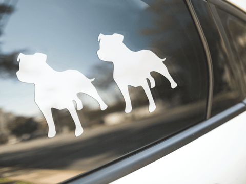 Staffordshire Bull Terrier Dog Silhouette Sticker