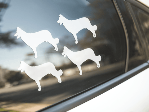 Border Collie Dog Silhouette Sticker