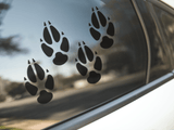 Fox Paw Print Stickers