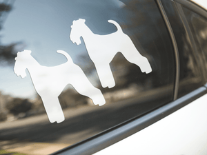 Airedale Terrier Dog Silhouette Stickers