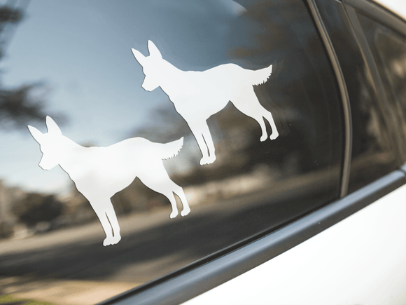 Australian Cattle Dog Silhouette Stickers
