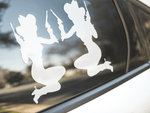 Pinup Cowgirl Silhouette Stickers