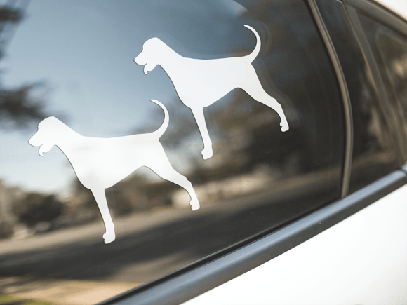 Doberman Dog Silhouette Stickers