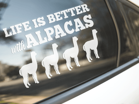Life Is Better With Alpacas Sticker