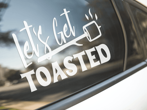 Let's Get Toasted Camping Sticker