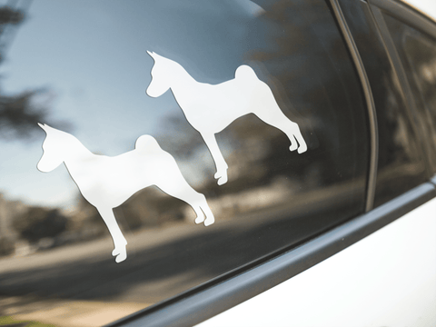 Basenji Dog Silhouette Sticker