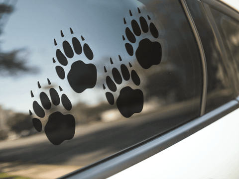 Badger Paw Print Stickers