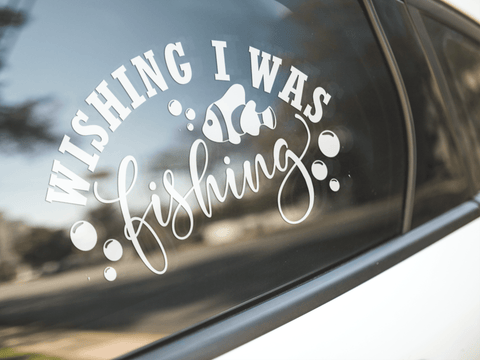 Wishing I Was Fishing Sticker