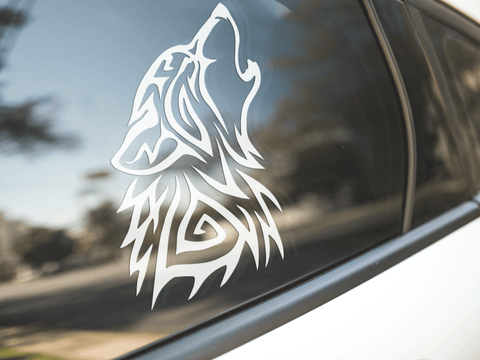 Tribal Wolf Sticker