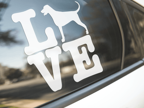 Love Doberman Dog Sticker