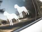 Bull Mastiff Dog Silhouette Sticker