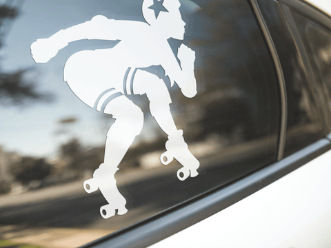 Roller Derby Girl Sticker