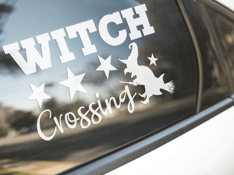 Witch Crossing Sticker