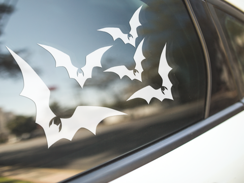 Gothic Flying Bats Stickers