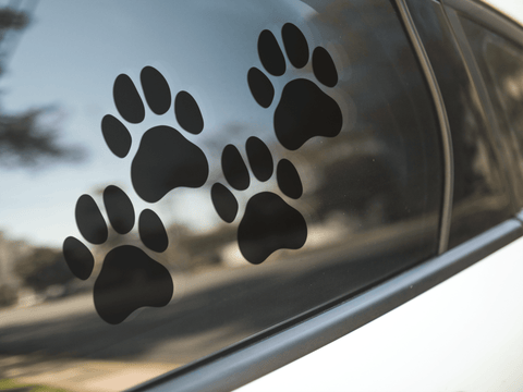 Tiger Paw Print Stickers