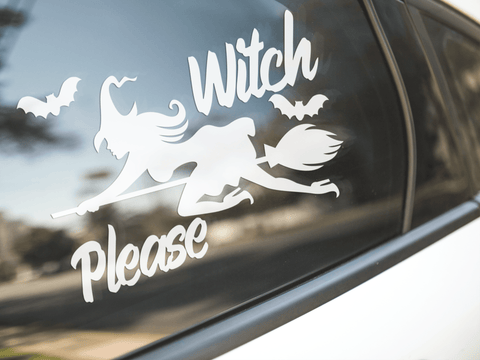 Witch Please Sticker - The Naked Bike