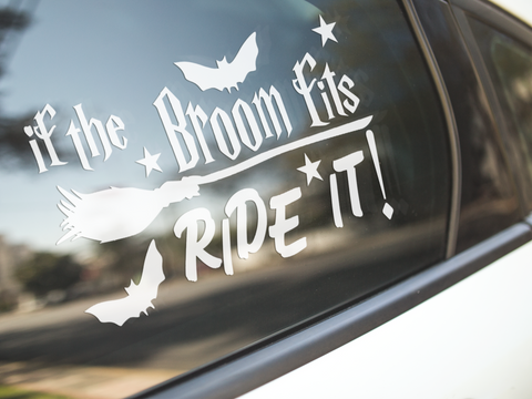 If The Broom Fits Ride It Sticker