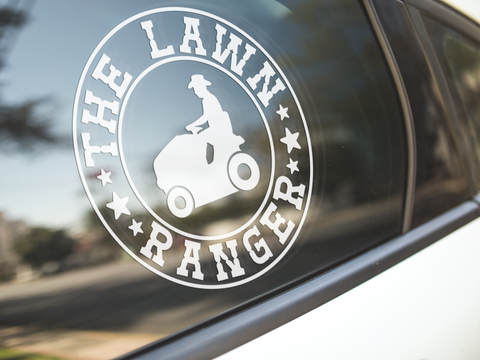 The Lawn Ranger Sticker