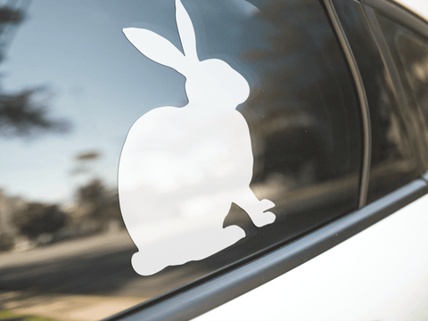 Rabbit Silhouette Sticker