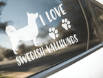I Love Swedish Vallhunds Sticker