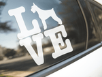 Love Schnauzer Dog Sticker