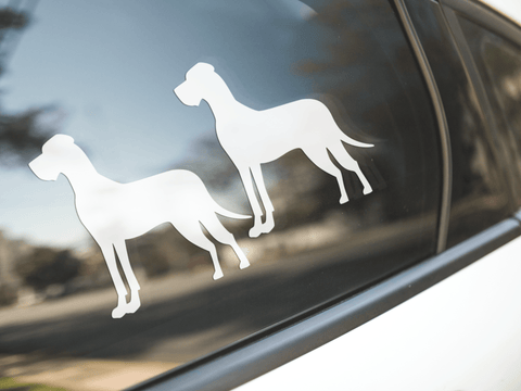 Great Dane Dog Silhouette Stickers