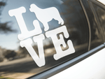 Love Newfoundland Dog Sticker