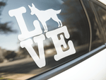 Love Australian Cattle Dog Sticker