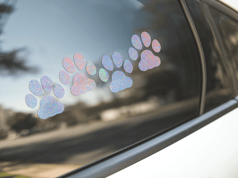 Paw Print Holographic Stickers