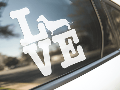 Love Dachshund Dog Sticker