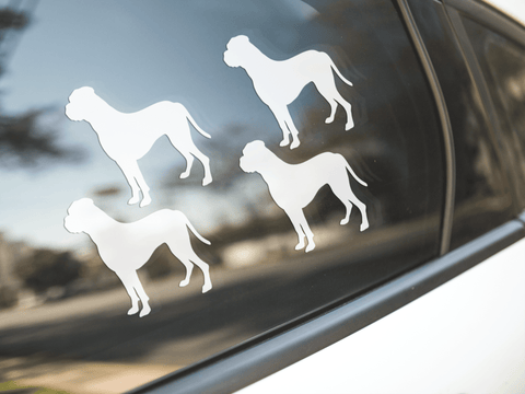 Boxer Dog Silhouette Sticker
