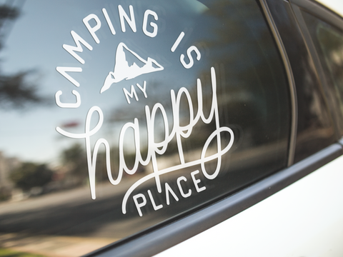 Camping Is My Happy Place Sticker