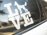 Love Chinese Crested Dog Sticker