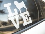 Love Pug Dog Sticker