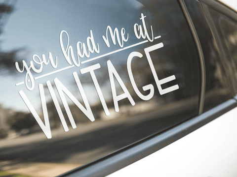 You Had Me At Vintage Sticker