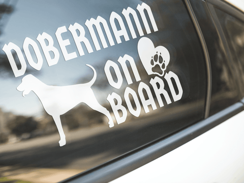 Dobermann On Board Sticker