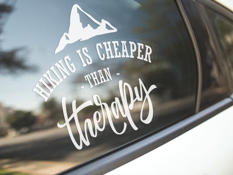 Hiking Is Cheaper Than Therapy Sticker
