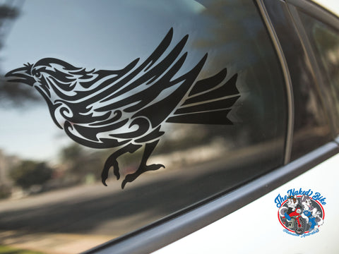 Tribal Crow Sticker