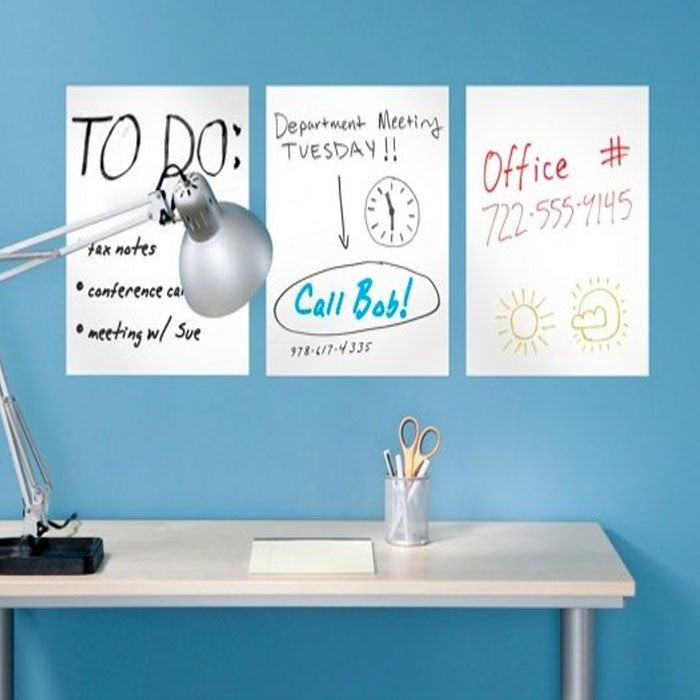 6-Pack: Removeable Dry Erase Sheets with Marker