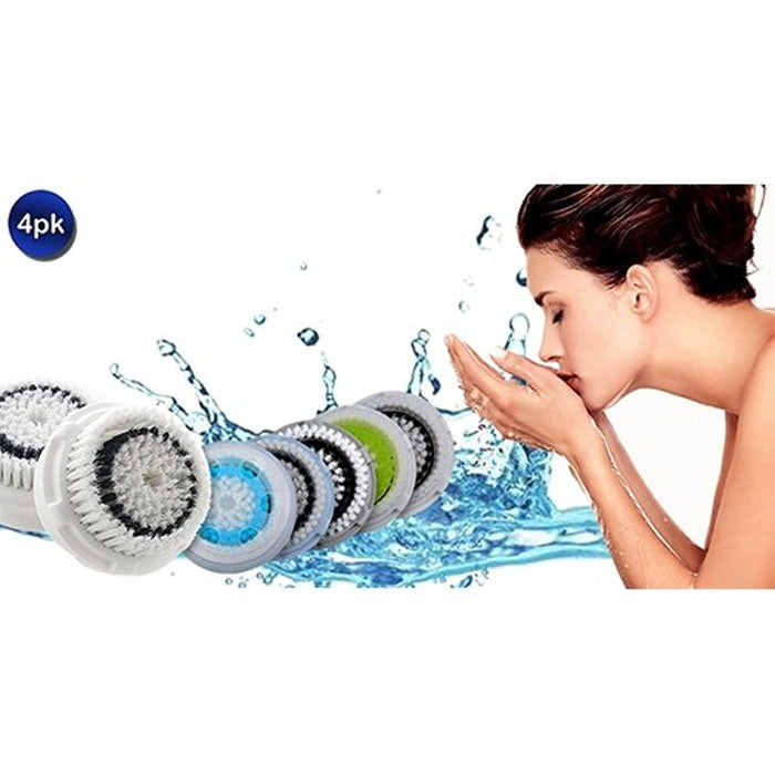 4 Pack: Compatible Facial Brush Heads - 5 Styles