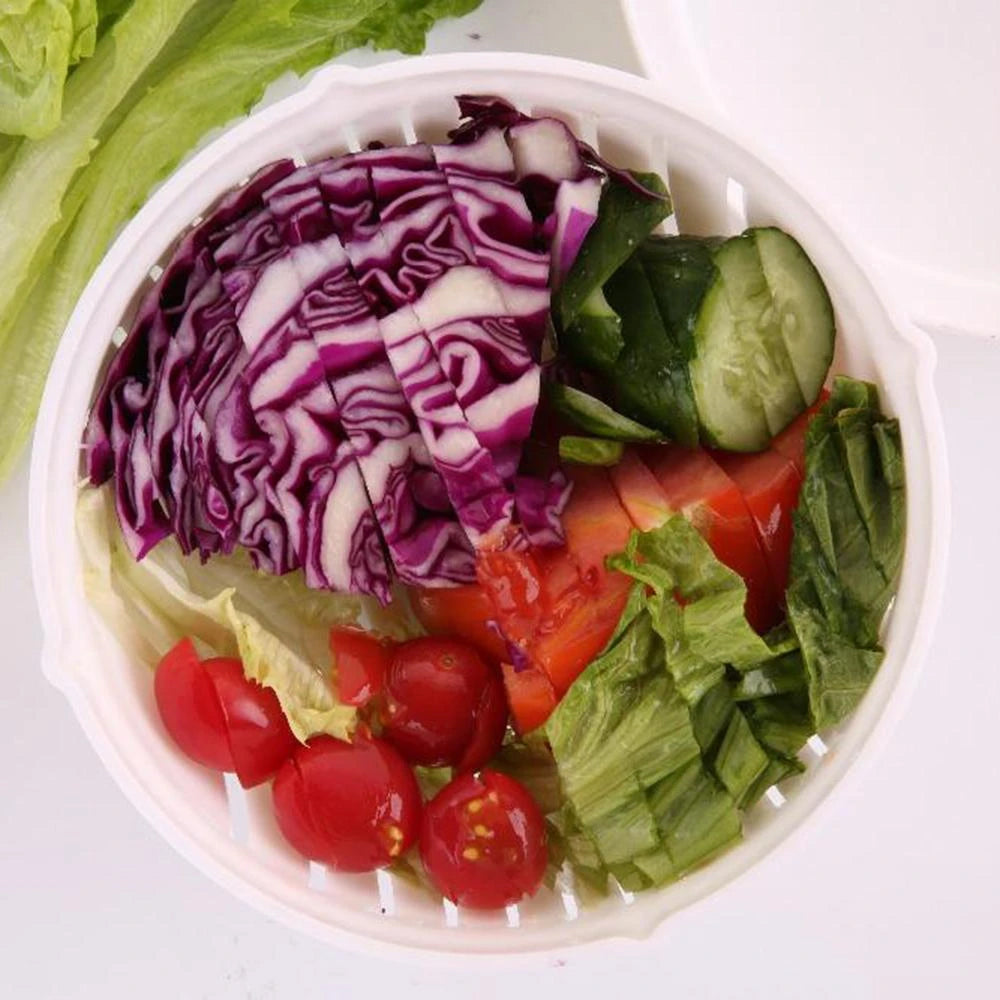 Quick-Chop Easy Salad Cutter Bowl
